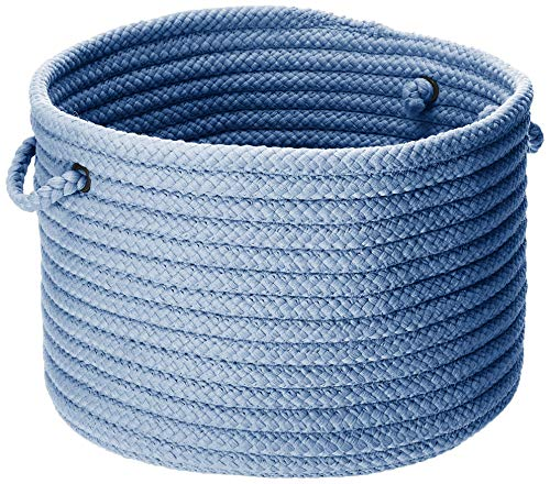 Colonial Mills Simply Home Solid Utility Basket, 24 by 14-Inch, Blue Ice