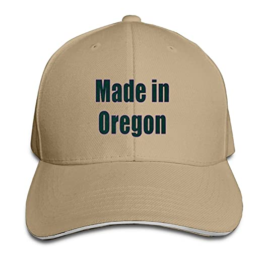 hot sale online 9ff7d f4a30 ... amazon made in oregon new running unisex peaked cap baseball hat  natural db3e6 b3cc5