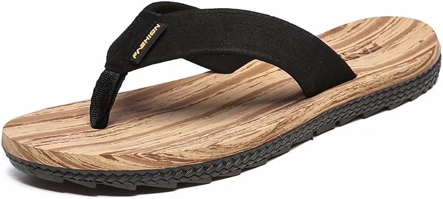 Men/'s Flip Flops Beach Casual Sandals Summer Faux Leather Comfort Thongs Shoes