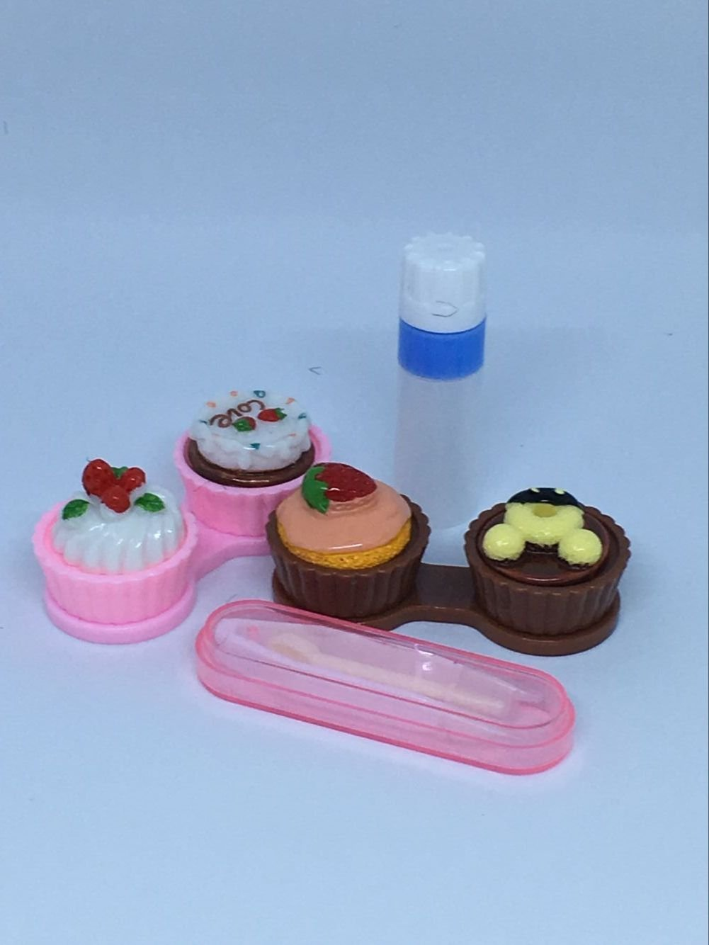 TGBACK Cute Kate Design Contact Lens Case Travel Kit Mirror +bottle + tweezers Container Holder by Tgback (Image #4)
