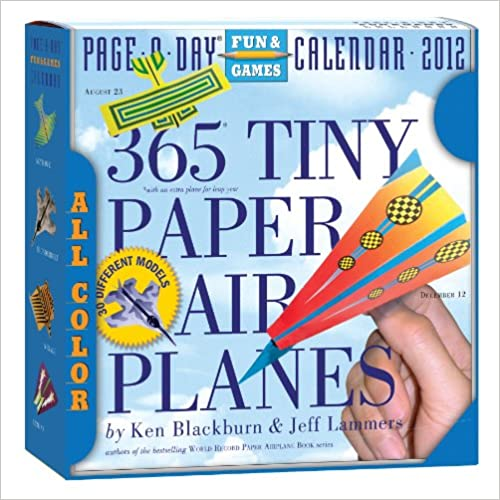 365 Tiny Paper Airplanes 2012 Page-a-Day Calendar   B005UVR8PE