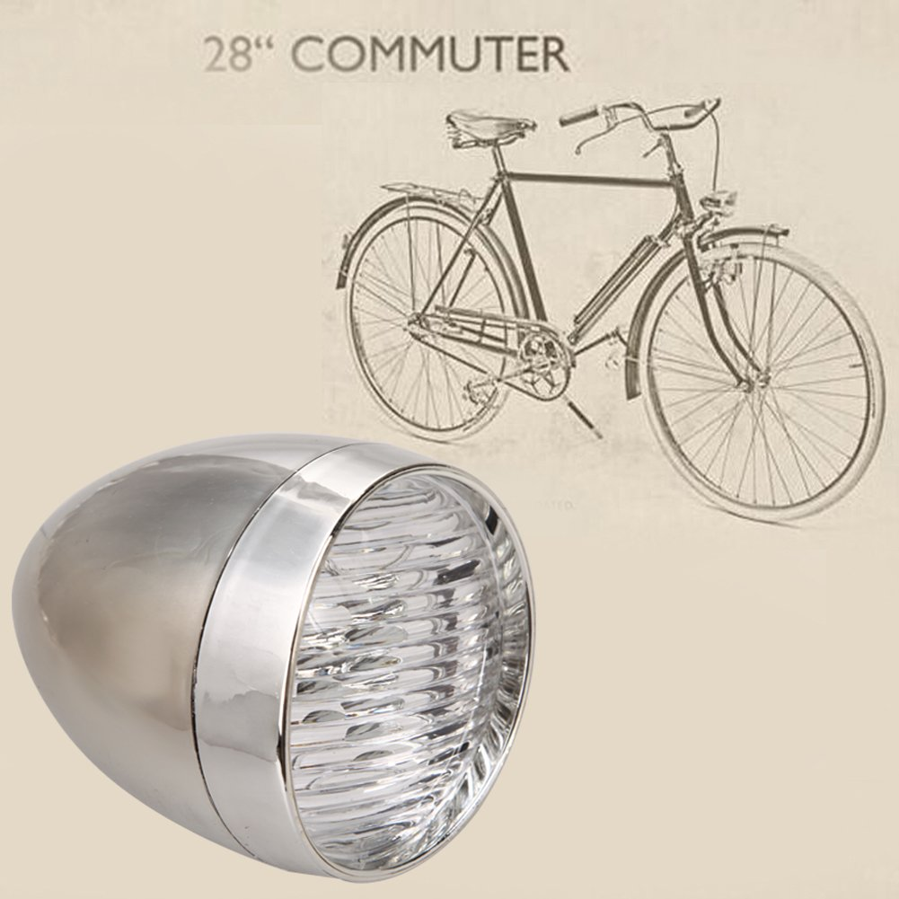3 Ledes Soporte de luz Delantera para Bicicleta Dise/ño Vintage starnearby Retro