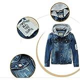 Mallimoda Kids Boys Girls Hooded Denim Jacket