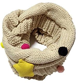 YUE-Écharpe Fille Garçon Enfant Laine tricotée Tour de cou Foulard chaud  Hiver pour 4 ba0697f658d