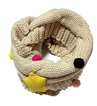 YUE-Écharpe Fille Garçon Enfant Laine tricotée Tour de cou Foulard chaud  Hiver pour 4 3738e6e9d39