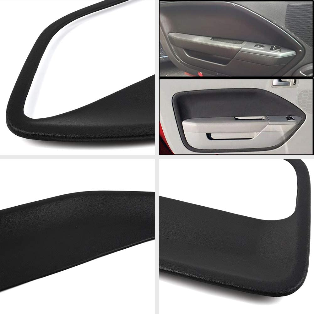 VRracing 2PCS Front Left /& Right Side Door Panel Insert Cards for Ford Mustang 2005 2006 2007 2008 2009 Black
