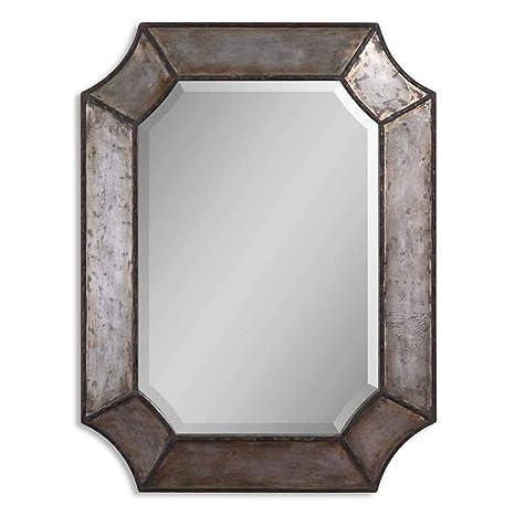 Amazon.com: Espejo de pared Uttermost Elliot de aluminio ...