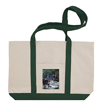 The Garden Of The Infanta (Monet) Cotton Canvas Boat Tote Bag Tote