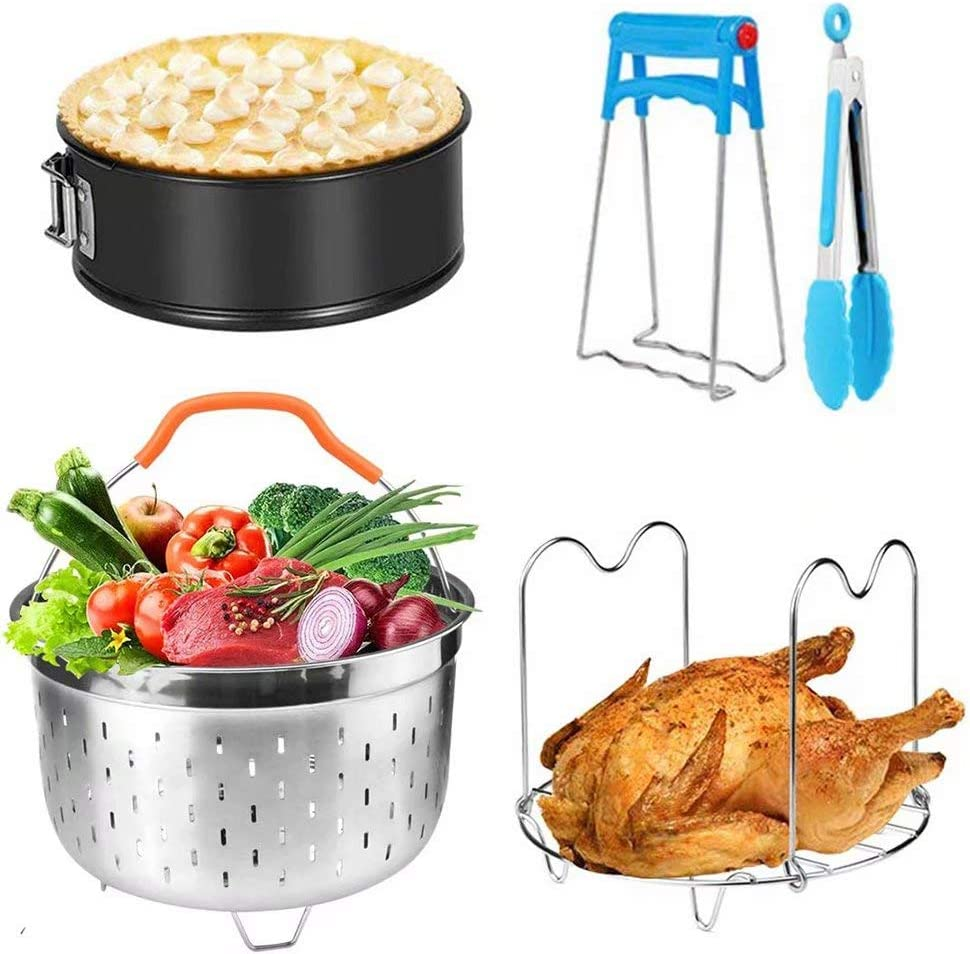 for Instant Pot Accessories 5 6 &8 Quart Steamer Basket Non-stick Springform Pan for Instapot Accessories Pressure Cooker Accessories 5pcs