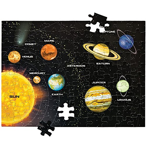 - Educational Solar System Magnetic 100 Piece Puzzle with Storage Canister