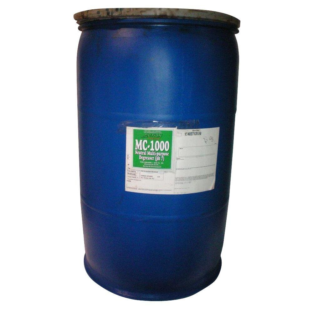 ACTION ORGANIC 55 Gal. Drum Organic Neutral Cleaner and Degreaser (at 50% Concentrate) (2-Pack) (Available Cherry Scent) by Action Chemical Technologies, Inc. (Image #1)