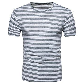 Super descuento colores y llamativos estilo popular ❤️ Amlaiworld Camiseta de Hombre Originales Camisa de Manga Corta para  Hombres Camiseta de Rayas Casual de Verano para Hombres Tops de Blusa  Jersey ...