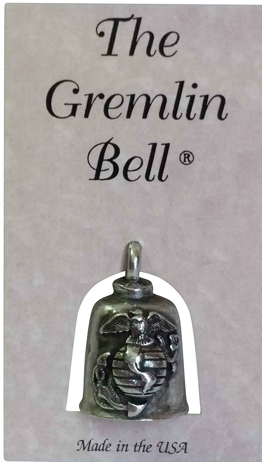 Inspire Nation Bell US Marines Pewter Good Luck Charm with Pouch and 2 Attachments and Story Card
