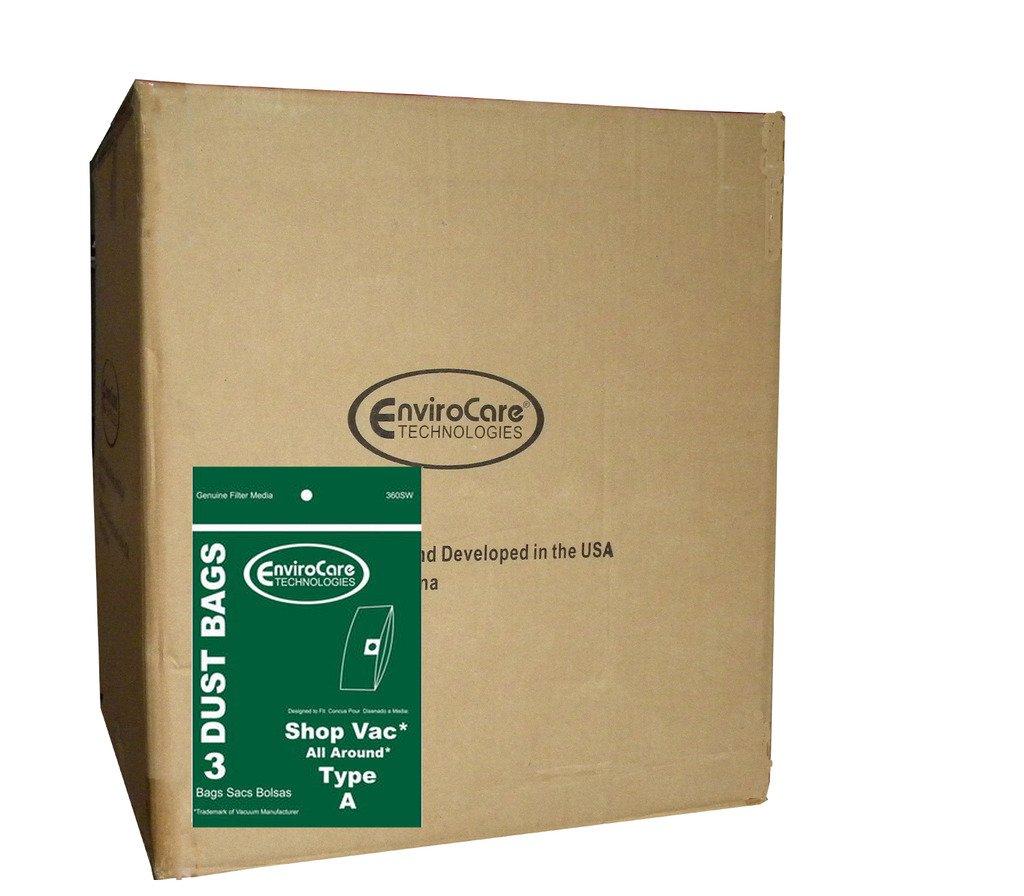 1 Case (50) ShopVac Type A 1.5 Gallon Wet Dry Shop Vac Vacuum Bags SV-9066700