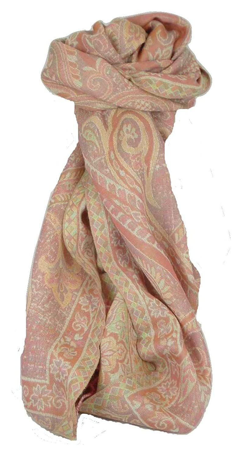 Muffler Scarf ID 4553 in Fine Pashmina Wool from the Heritage Range by Pashmina & Silk