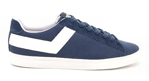 Pony Zapatillas de Lona Para Hombre Azul Azul Marino/Blanco 42: Amazon.es: Zapatos y complementos