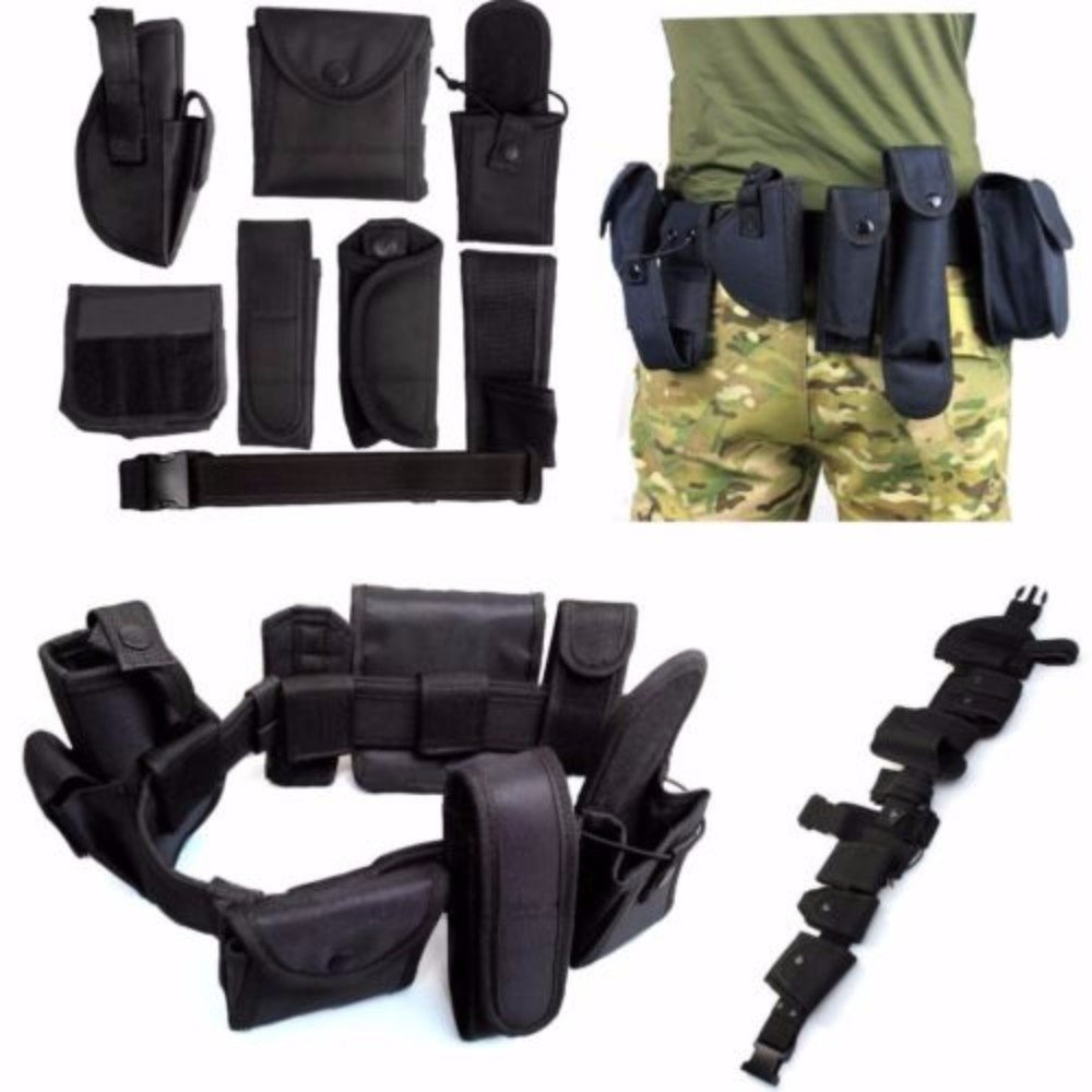 Officer Security Guard Law Enforcement Equipment Duty Belt Rig Gear Nylon