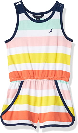 Nautica Girls Printed Romper