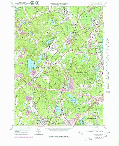 USGS Historical Topographic Map | 1964 Wrentham, MA |Fine Art Cartography Reproduction - Of Ma Wrentham Map