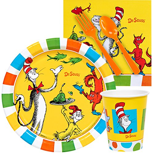 Dr Seuss 1st Birthday Party Supplies Snack Pack ()