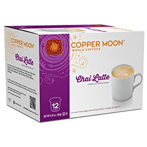 Copper Moon Latte Single Serve Pods for Keurig 2.0 K-Cup Brewers, Chai Latte, Barista Inspired Sweet Creamy Latte with the Taste of Bold Tea and Exotic Spices, 12 Count