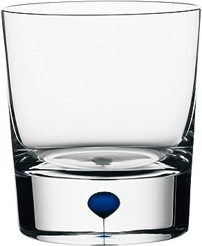 Orrefors Intermezzo 8 3 Ounce Old Fashioned Whiskey Glass Clesr Blue Old Fashioned Glasses Amazon Com