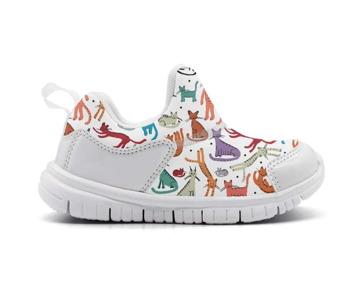 ONEYUAN Children Cute Happy Playing Cats Kid Casual Lightweight Sport Shoes Sneakers Walking Athletic Shoes