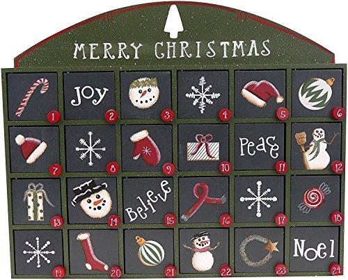 [해외]캐시에 의해 원시에서 문 녹색 나무 강림절 달력 / Green Wooden Advent Calendar with Doors from Primitives by Kathy
