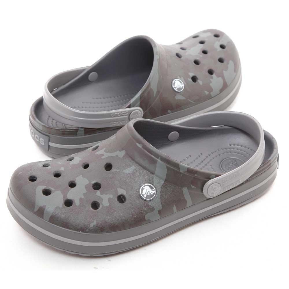 crocs Crocband Camo II Men Clog in Grey