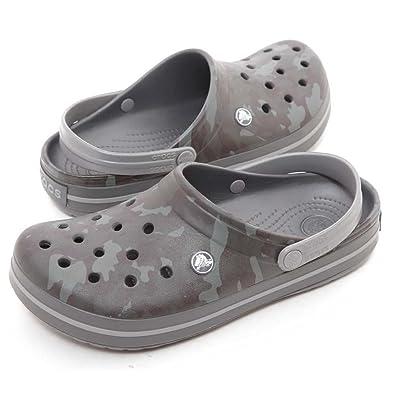 ec79a287fc1a1 crocs Crocband Camo II Men Clog in Grey: Buy Online at Low Prices in ...