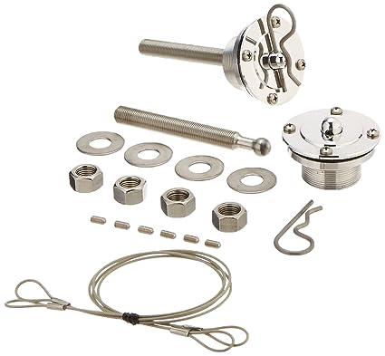 Amazon.com: Quik-Latch Products QL-50-OSP Polished Aluminum Retro Style Quick Release Hood Pin Kit: Automotive