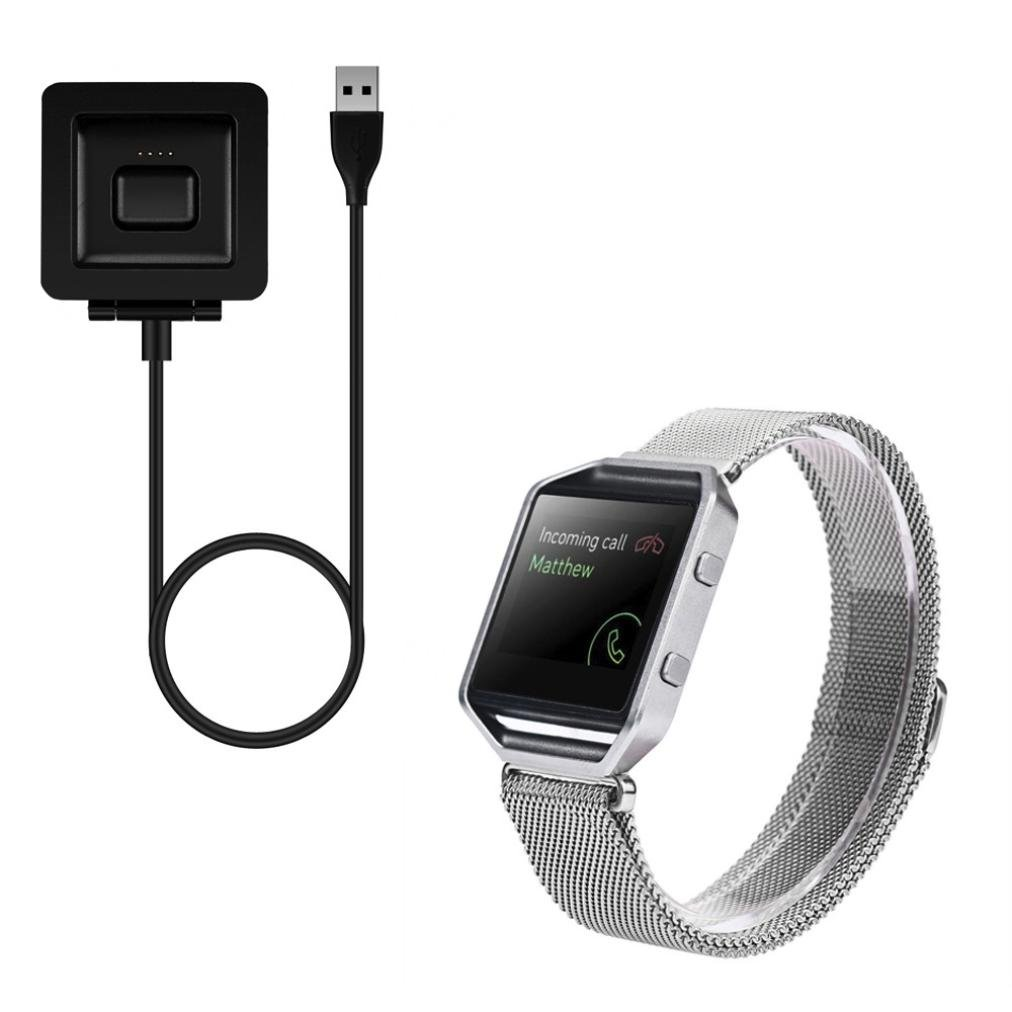 START 2016 Milanese Magnetic Loop Bands Bracelet + USB Magnetic Charger For Fitbit Blaze