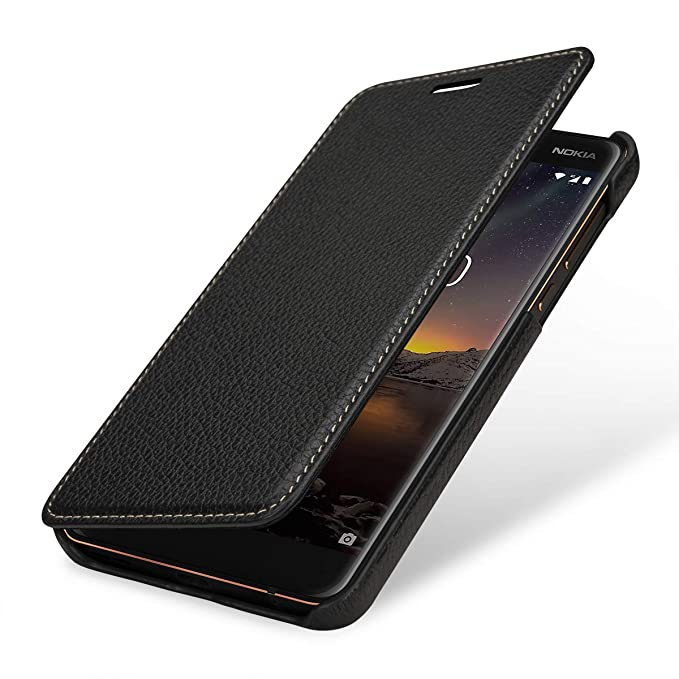 competitive price 37a3f 06cdd Amazon.com: StilGut Nokia 6.1 Case. Leather Book Type Flip Cover for ...