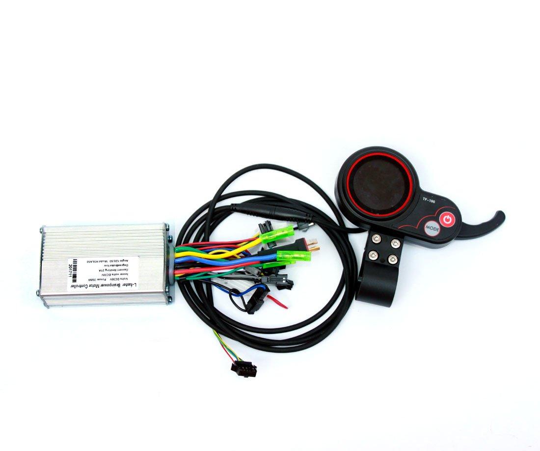 Elektrische Scooter LCD-Anzeige mit Thumb Throttle Kit Elektrische Bürstenlose Naben-Motor-Controller mit Farb-LCD-Batterie-Anzeige