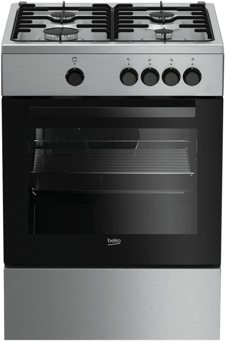 Beko FSG62000DX Independiente Encimera de gas A Acero inoxidable - Cocina (Cocina independiente, Acero inoxidable, Giratorio, Frente, Esmalte, Encimera de gas): Amazon.es: Grandes electrodomésticos