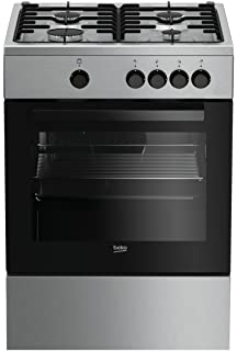 Cucina LAREL silver/inox 60x60 4 fuochi con forno a gas metano o ...