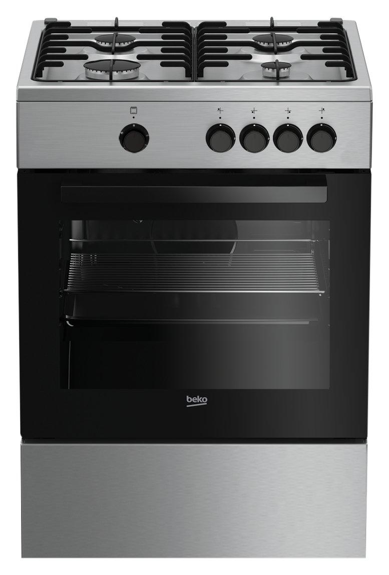 indesit i6tmh2af(x)/i libera installazione 58l a acciaio ... - Cucine A Gas Indesit