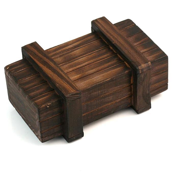 Mini Mágica Madera Caja Puzzle Secreto Compartimento ...