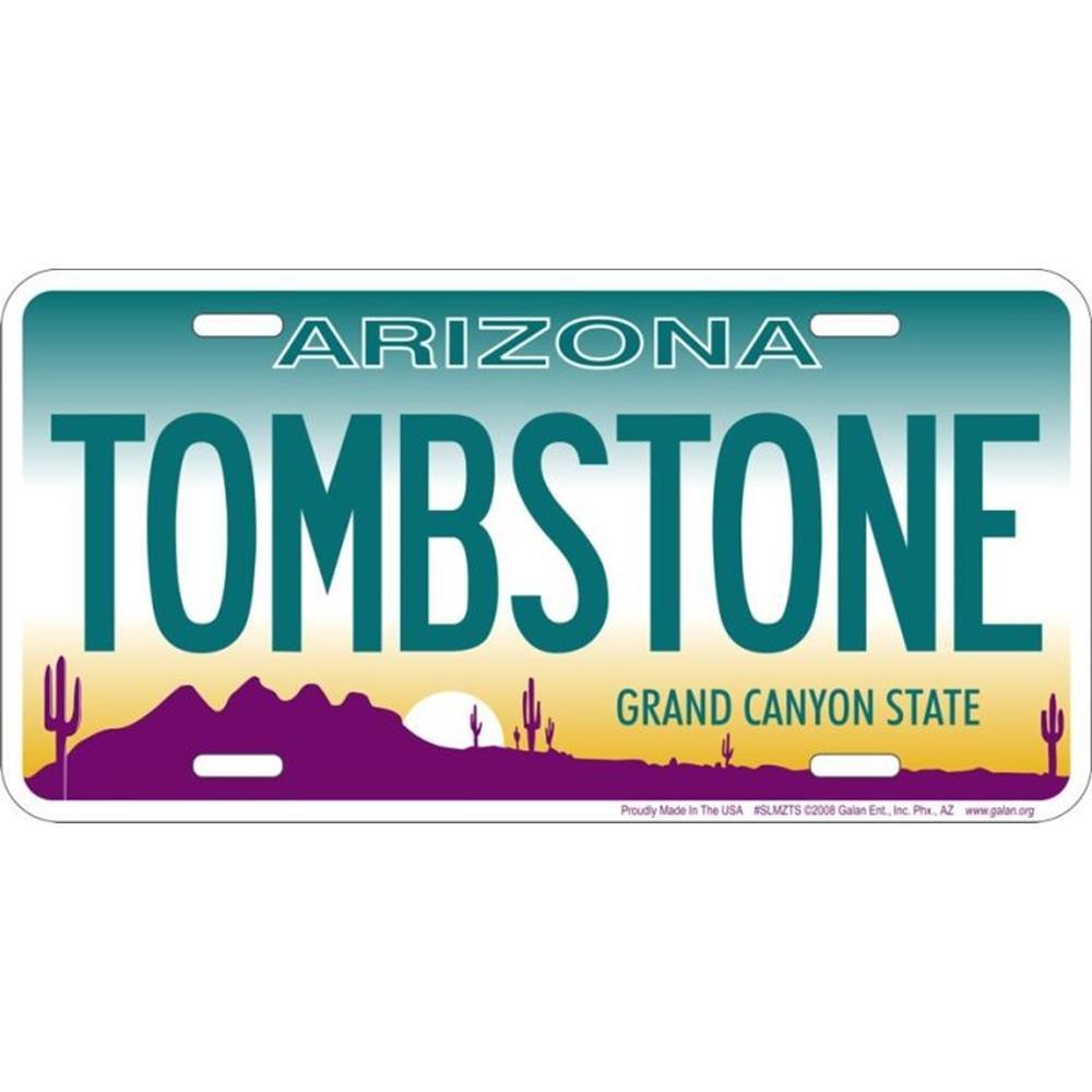 License Plate Signs 4 Fun Slmzts AZ-Tombstone