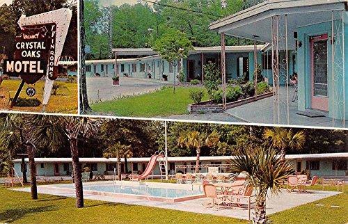 Trenton Florida Crystal Oaks Motel Multiview Vintage Postcard K96023
