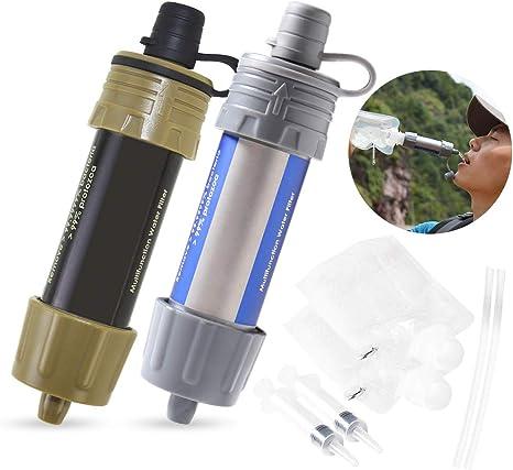 Lixada Filtro de Agua Portátil Sistema de Filtración de Agua Mini ...