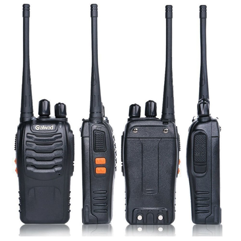 Walkie Talkie 16 Channels Long Range Two Way Radio 2pcs Radios Box Contain Two of Every Item (2 Radios,2 Rechargeable Batteries,2 Lanyards,2 Clips,2 Antennas,2 Chargers,2 Headphones,2 Manuals) by Galwad (Image #5)