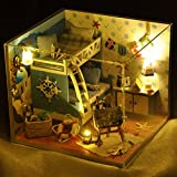 Flever Dollhouse Miniature DIY House Kit Creative Room With Furniture and Glass Cover for Romantic Artwork Gift(Trip of Aegean Sea)