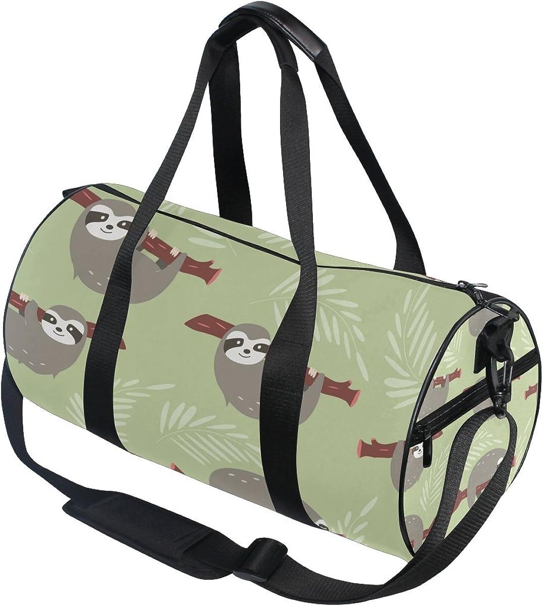 Evolutions Yoga Sloth Travel Duffel Bag Sports Gym Bag For Men