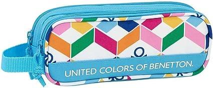 Estuche Benetton Geometric Doble: Amazon.es: Oficina y papelería