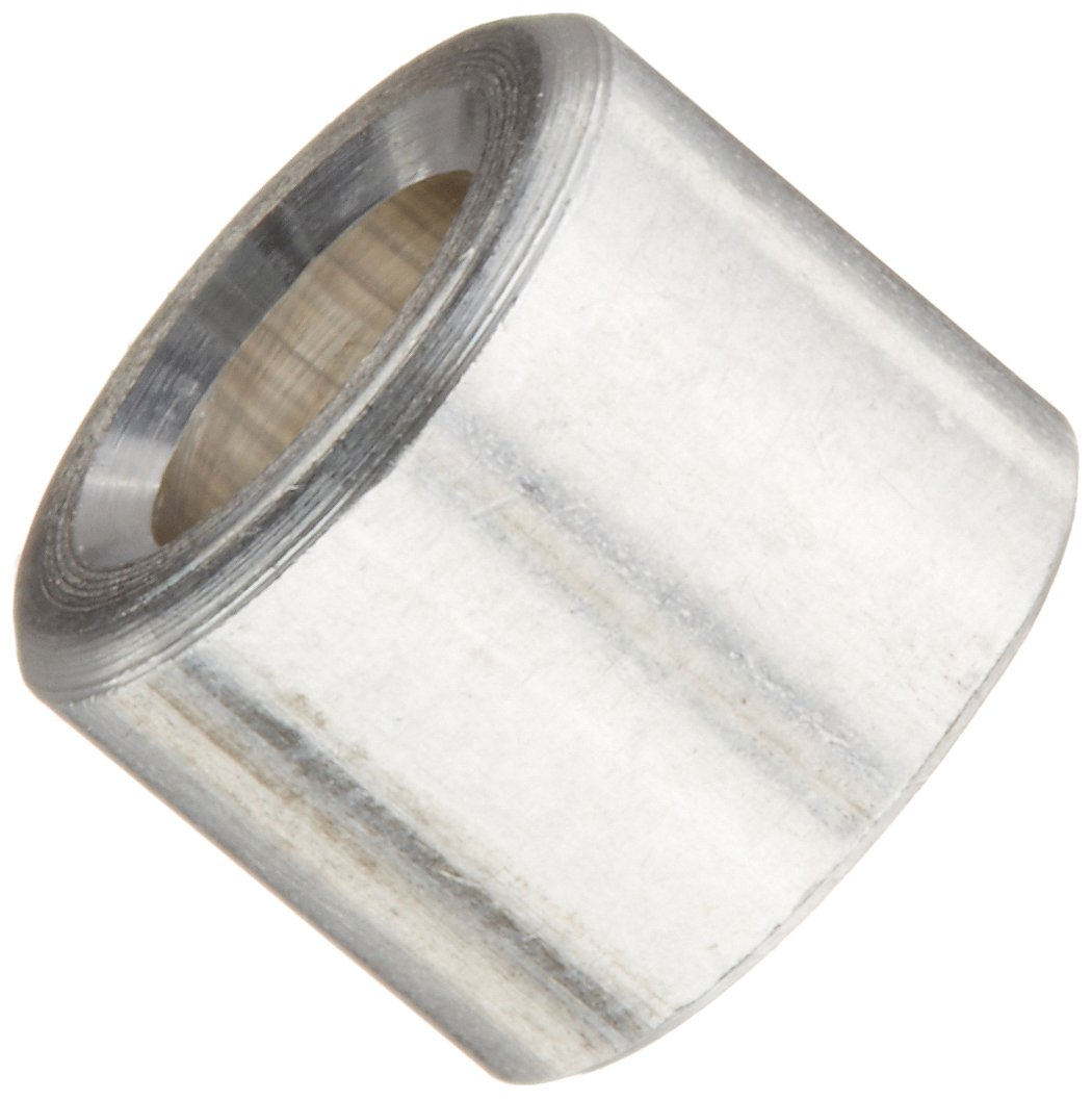 Round Spacer Aluminum Plain Finish 5//16 OD 1//4 Length Pack of 10 #8 Screw Size 0.166 ID