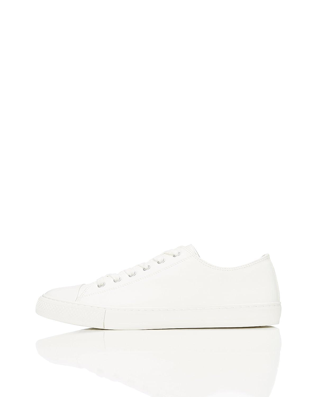 FIND Damen Flache Sneaker Weiß (White)