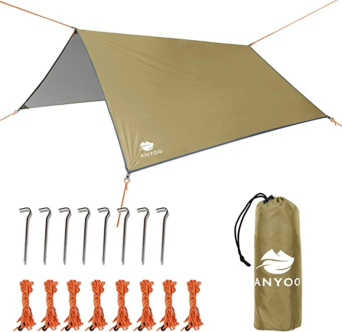 Anyoo Ripstop Rain Tarp Beach Tent Hamaca Fly Sunshade Ligero ...
