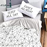 ORoa Lightweight Cotton Duvet Cover Sets for Kids Teens Twin 3 Piece Reversible Plaid Home Textile Bedding Set with Pillow Shams (Twin, Style 4)