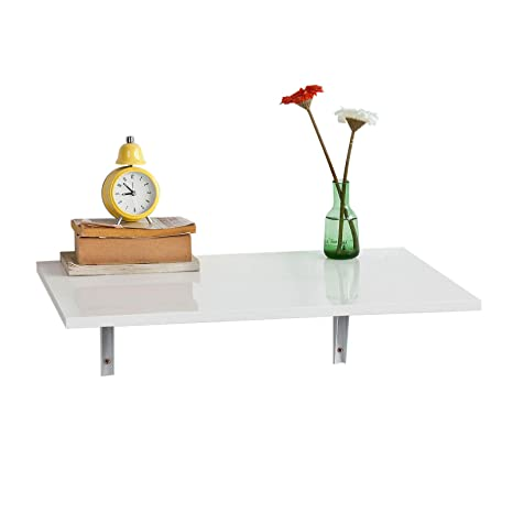 SoBuy FWT21-W,ES Mesa de Cocina, Mesa Plegable de Pared, Mesa de Comedor, Mesa de Pared, 60x40cm (sillas no Incluidas)